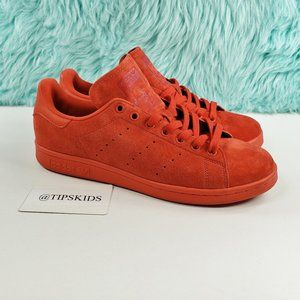 Adidas Stan Smith Originals Red Suede Sneakers